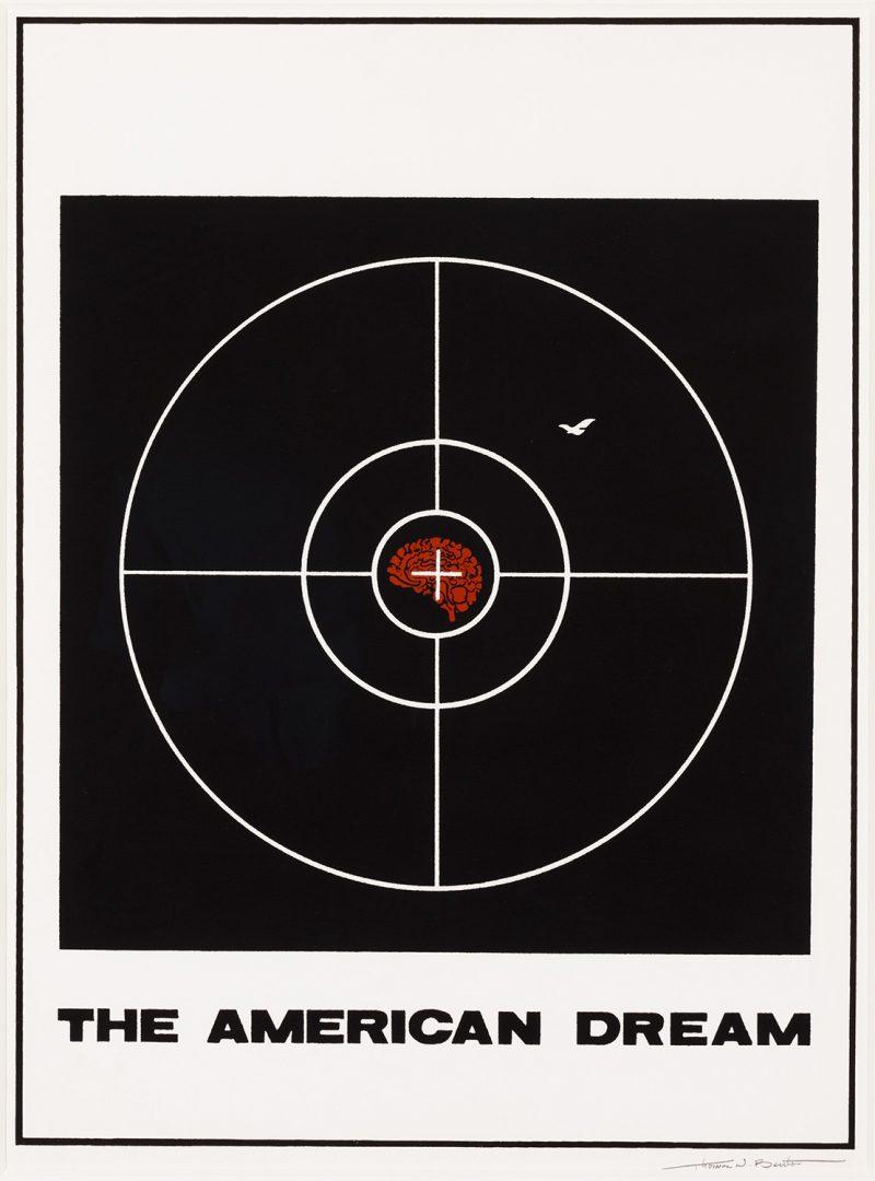 silkscreen poster of a target