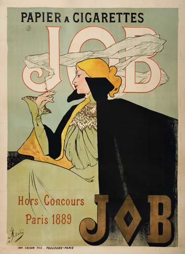 illustrative poster of a woman wearing a cape smoking a cigarette