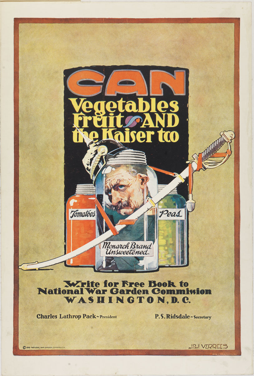 illustrative poster of canned foods