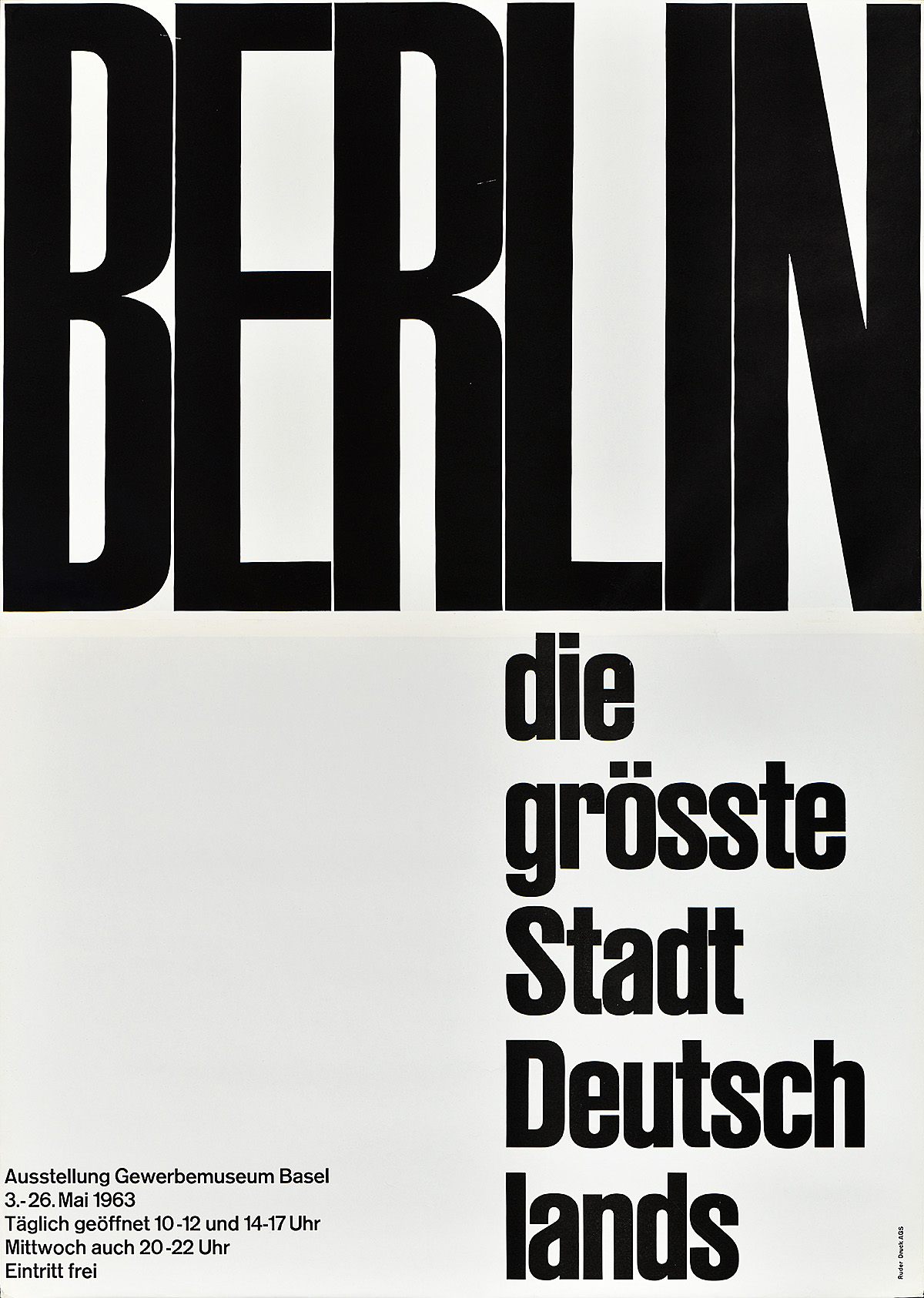 type-based poster of the word Berlin in black fitted to a white page horizontally