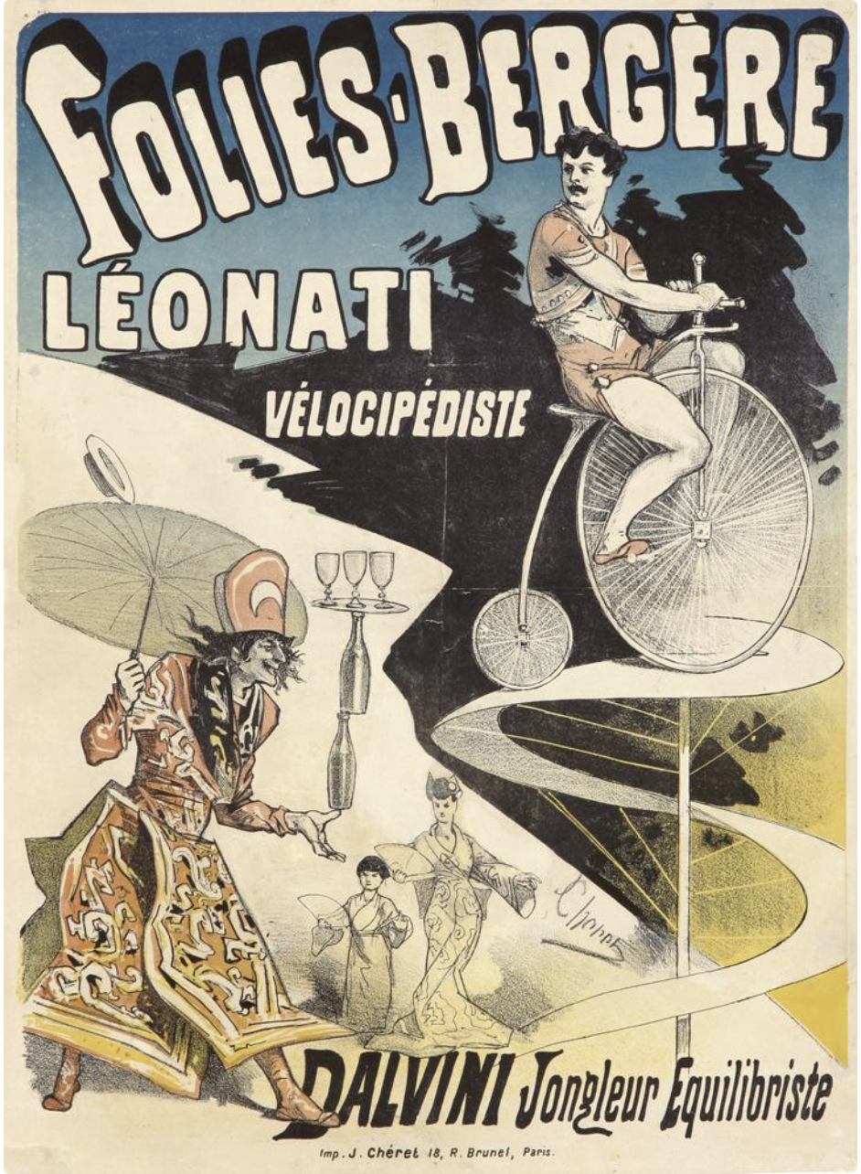 illustrative poster of circus performers