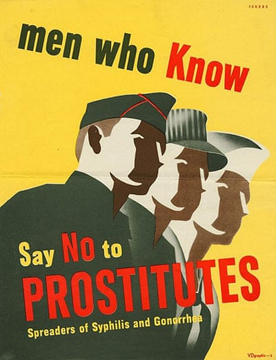 illustrative poster of a line of men dressed in different uniforms