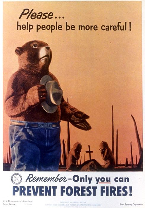 illustrational poster of a bear holding a hat to his chest and other bears mourning in the background