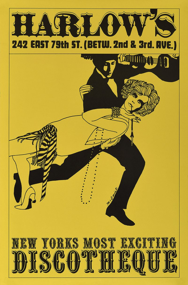 Illustrational poster of a man and woman dancing