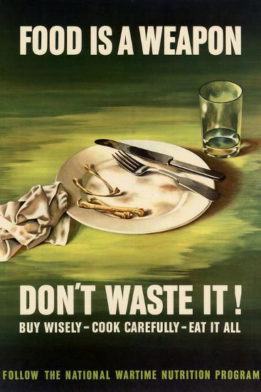 illustrational poster of an empty cup and plate with leftover bones