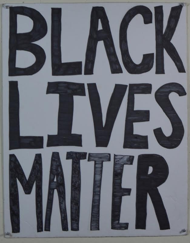 hand drawn poster stating black lives matter