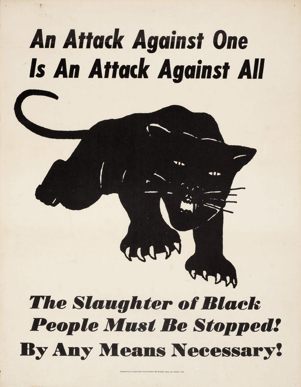 illustrational black panther poster