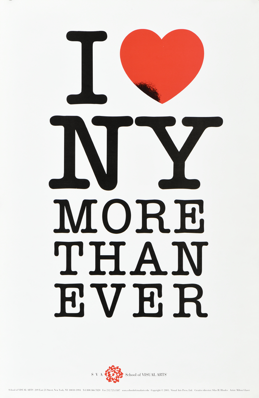 text based poster that says i love new york more than ever