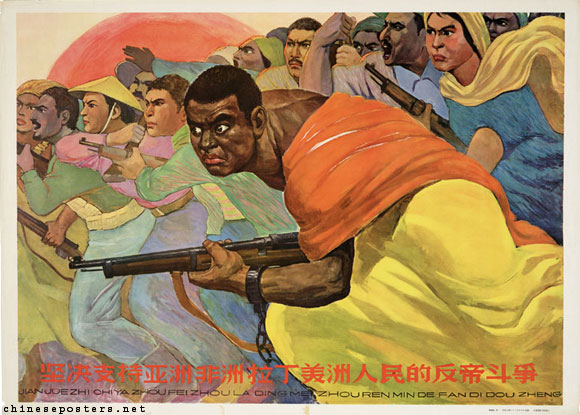 Black man leading an armed charge