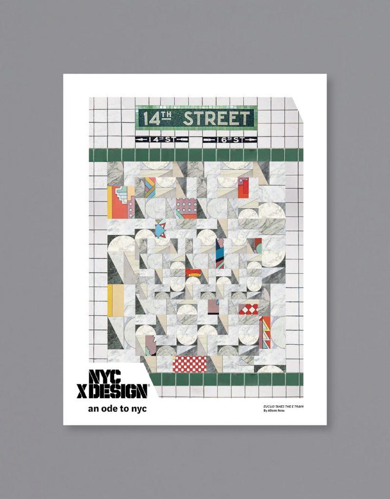 A poster of the New York subway wall mosaic art at 14th Street.
