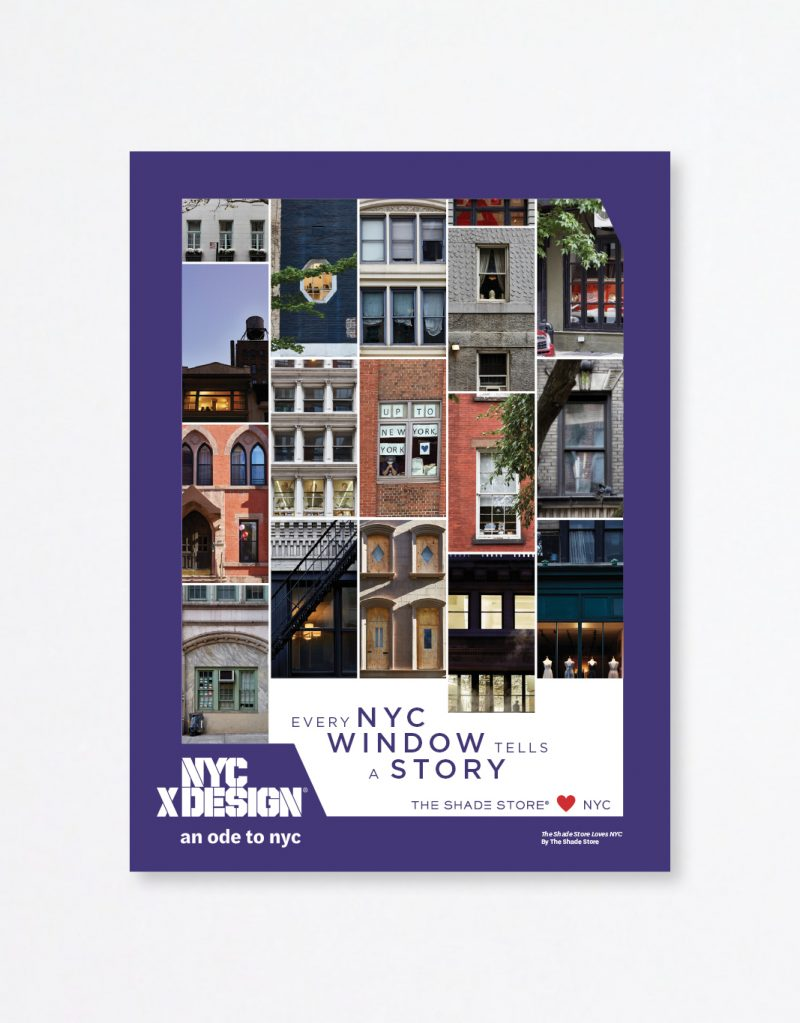 A poster showing a lot of photos of town houses and buildings in the New York city. the text says