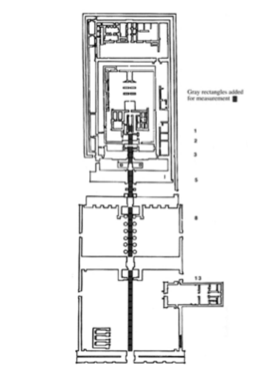 Floorplan of Temple of Karnak